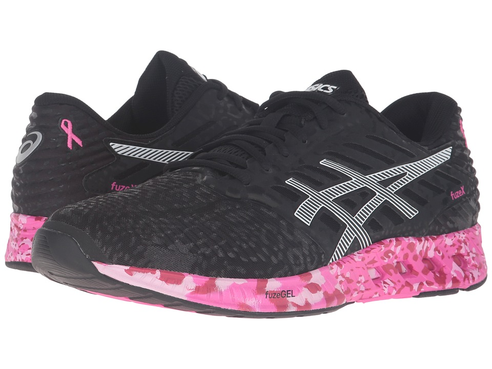 ASICS - FuzeX PR (Black/White/Pink Ribbon) Men's Running Shoes