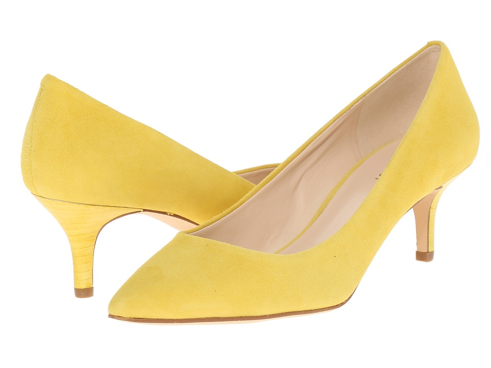 Nine West - Xeena (Yellow Suede) Women's 1-2 inch heel Shoes