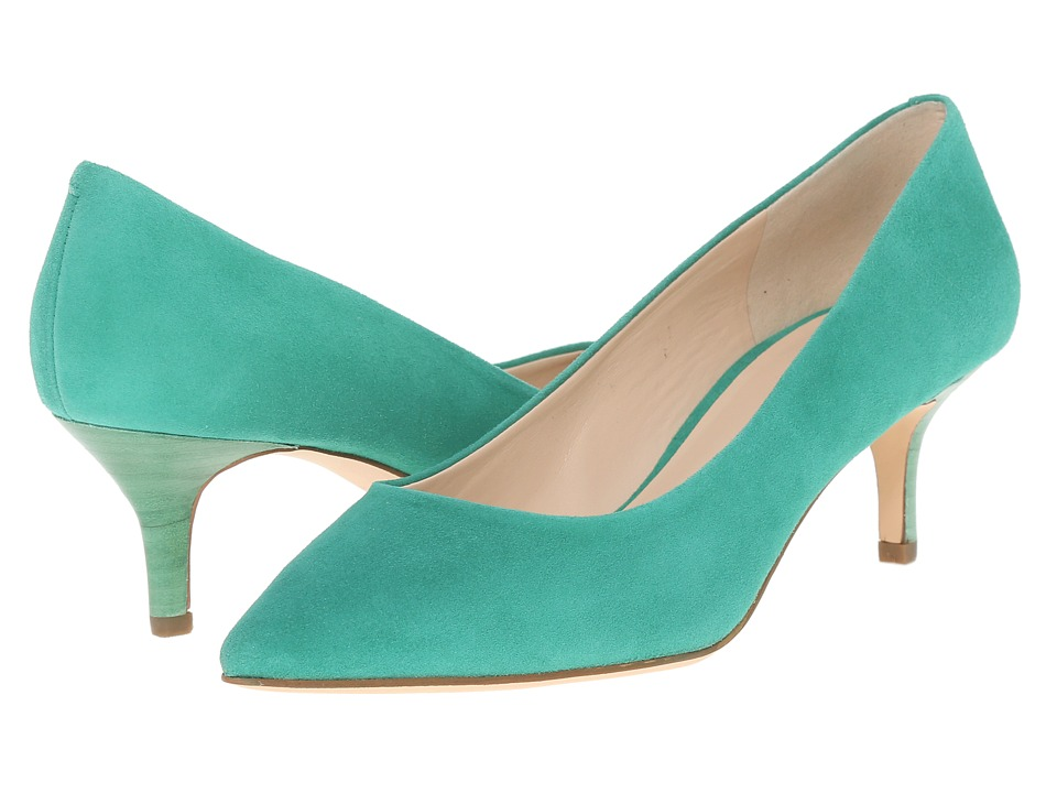 Nine West - Xeena (Green Suede) Women's 1-2 inch heel Shoes