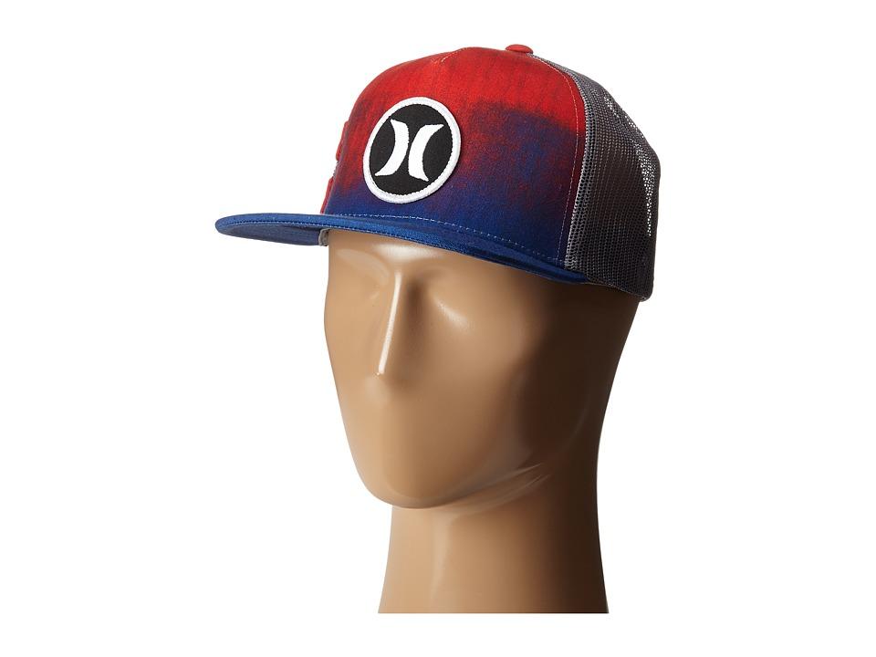 Hurley - Block Party Hyper Flow Hat (Bright Crimson) Caps