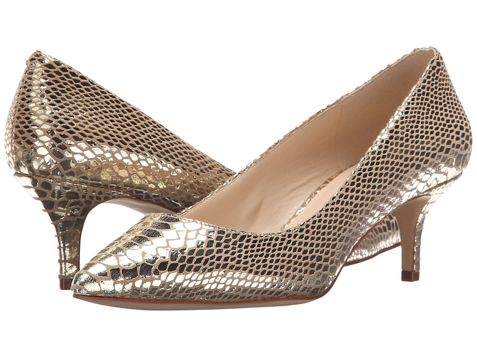 Nine West - Xeena (Light Gold Metallic) Women's 1-2 inch heel Shoes