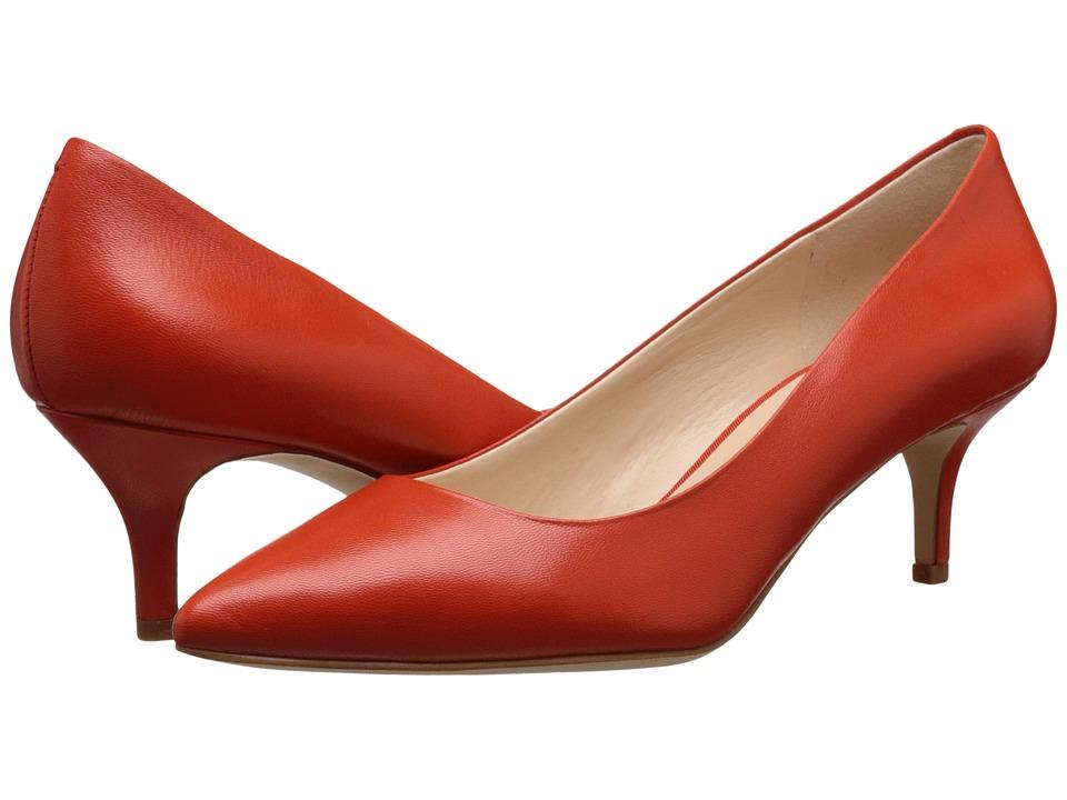Nine West - Xeena (Red Orange Leather) Women's 1-2 inch heel Shoes