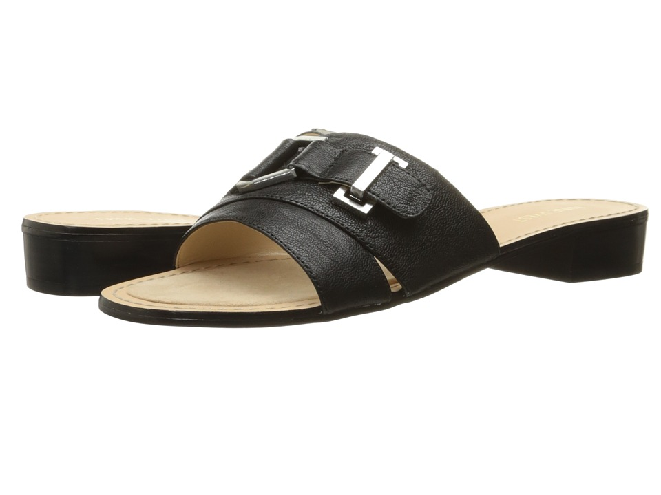 Nine West - Yanni (Black Leather) Women's Sandals