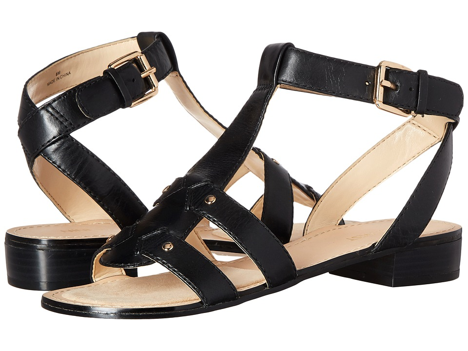 Nine West - Yippee (Black Leather) Women's Sandals