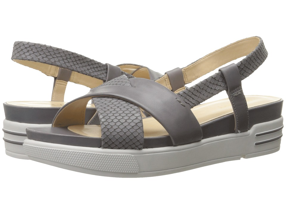 Nine West - Zizi (Grey/Grey Leather) Women's Sandals