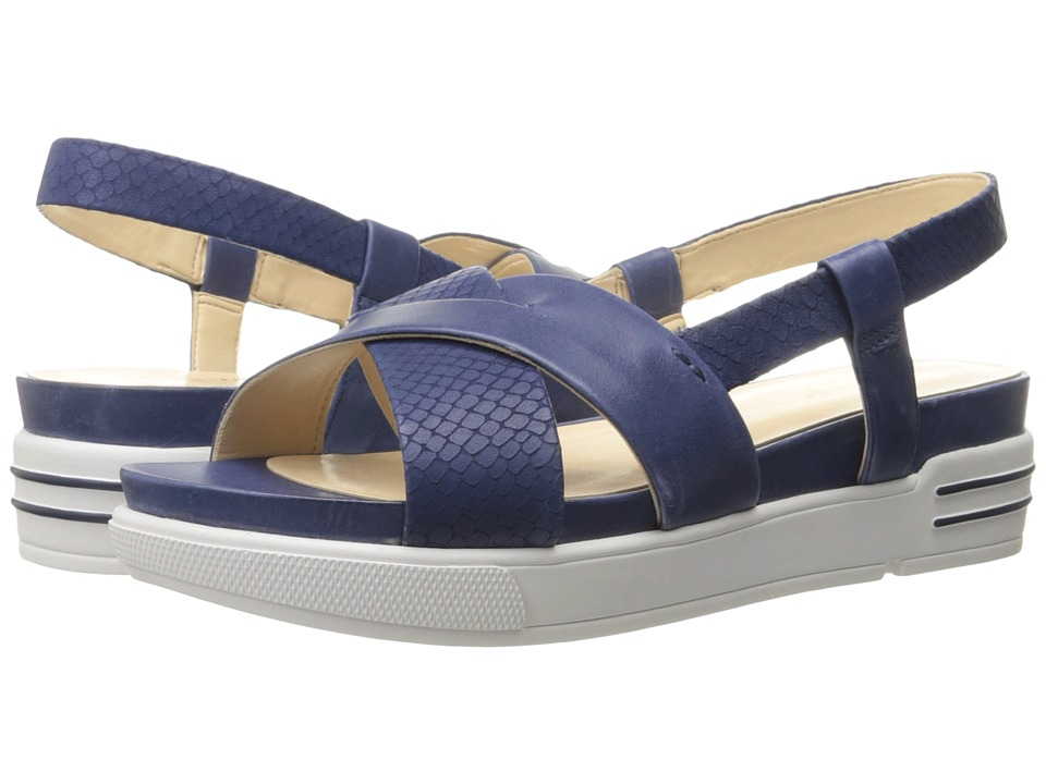 Nine West - Zizi (Navy/Navy Leather) Women's Sandals
