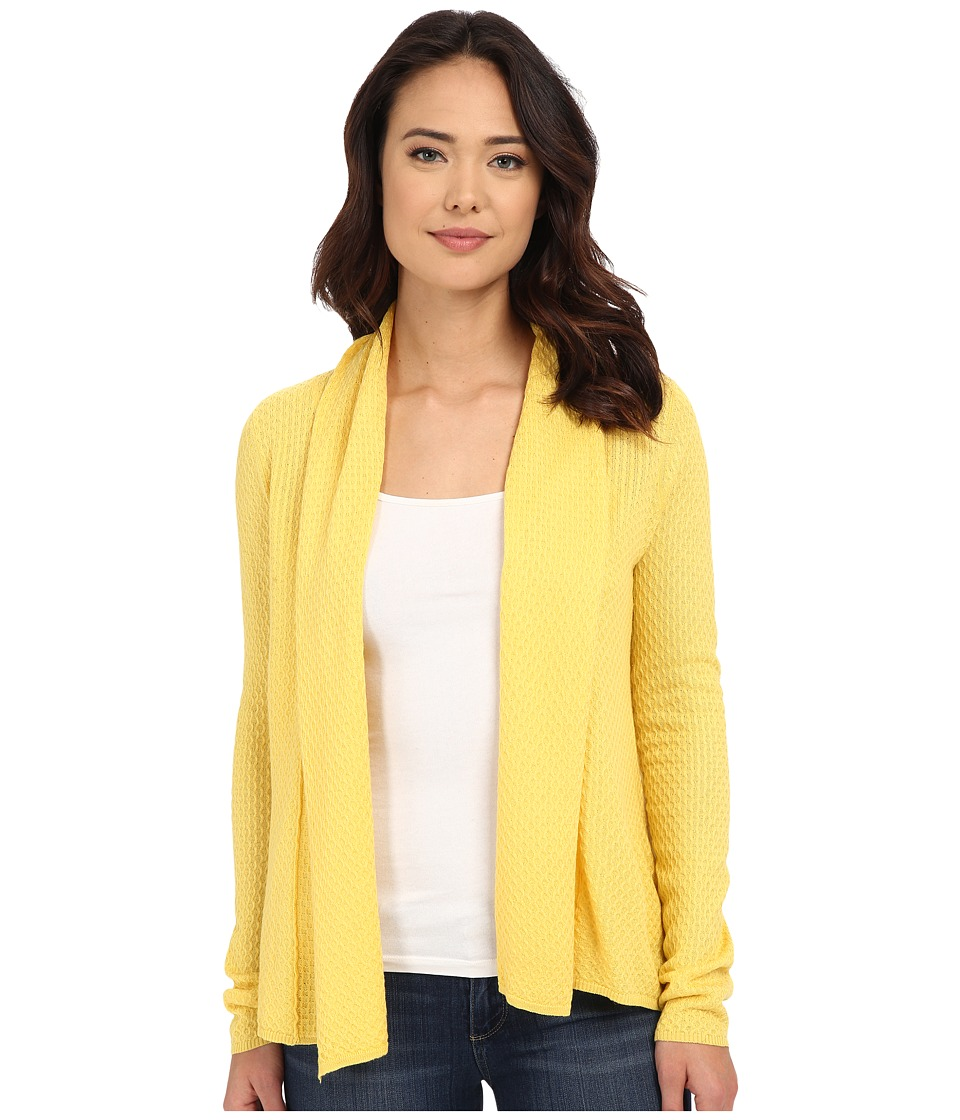 Christin Michaels - Wave Stitch Cashmere Cardigan (Sunflower) Women's Sweater