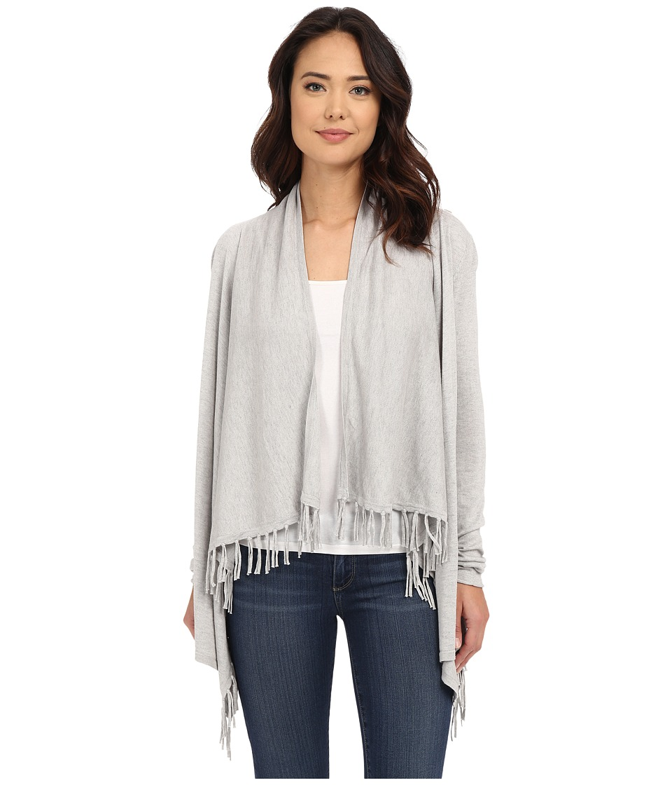 Christin Michaels - Cashmere Fringe Cardigan (Dove) Women's Sweater