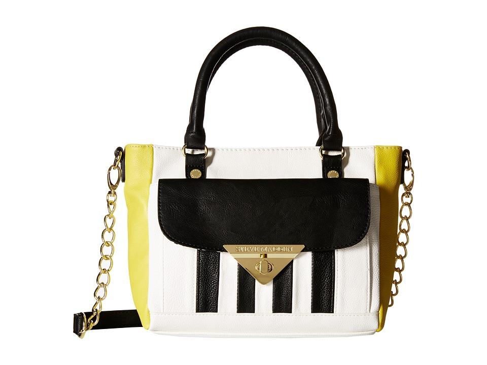 Steve Madden - Mini Rue Satchel (Chartruese/White/Black) Satchel Handbags