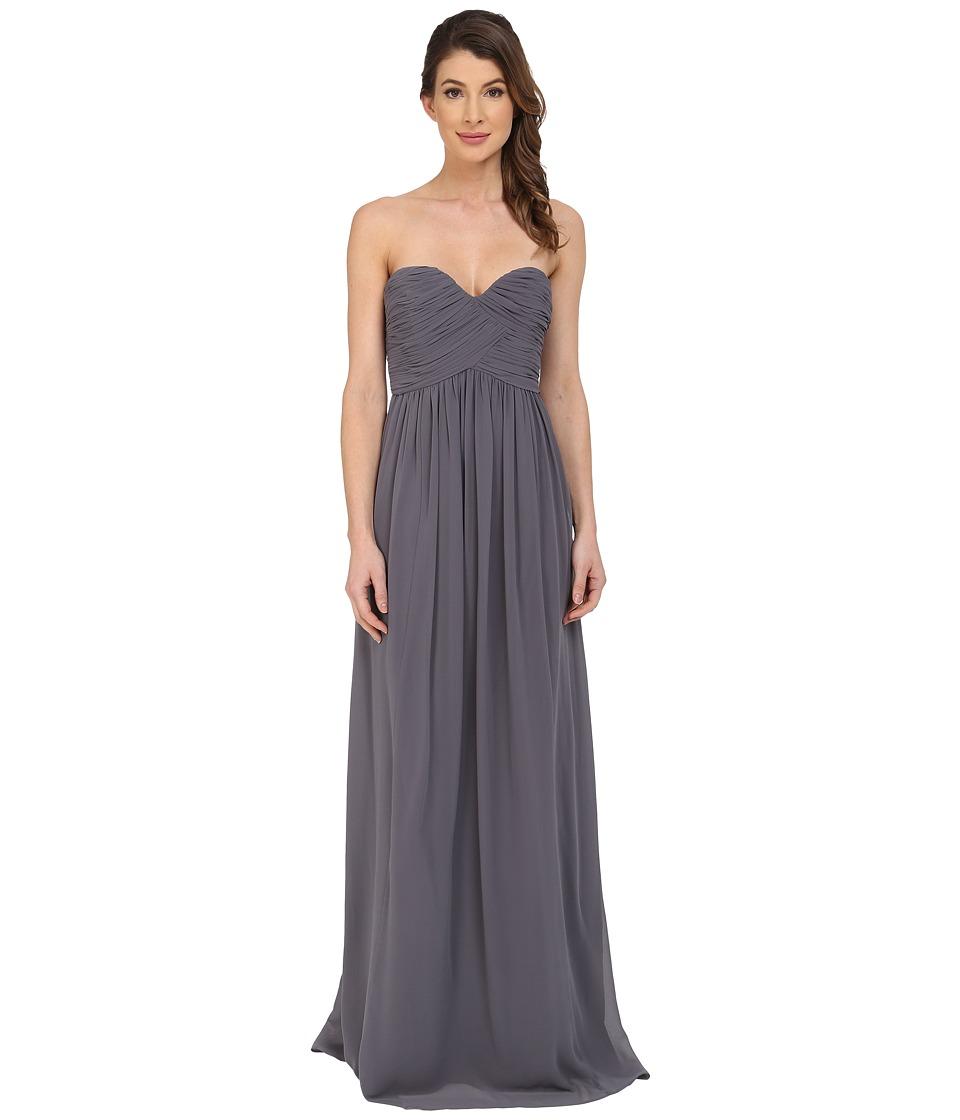 Donna Morgan - Laura Long Chiffon Gown Dress (Charcoal) Women's Dress