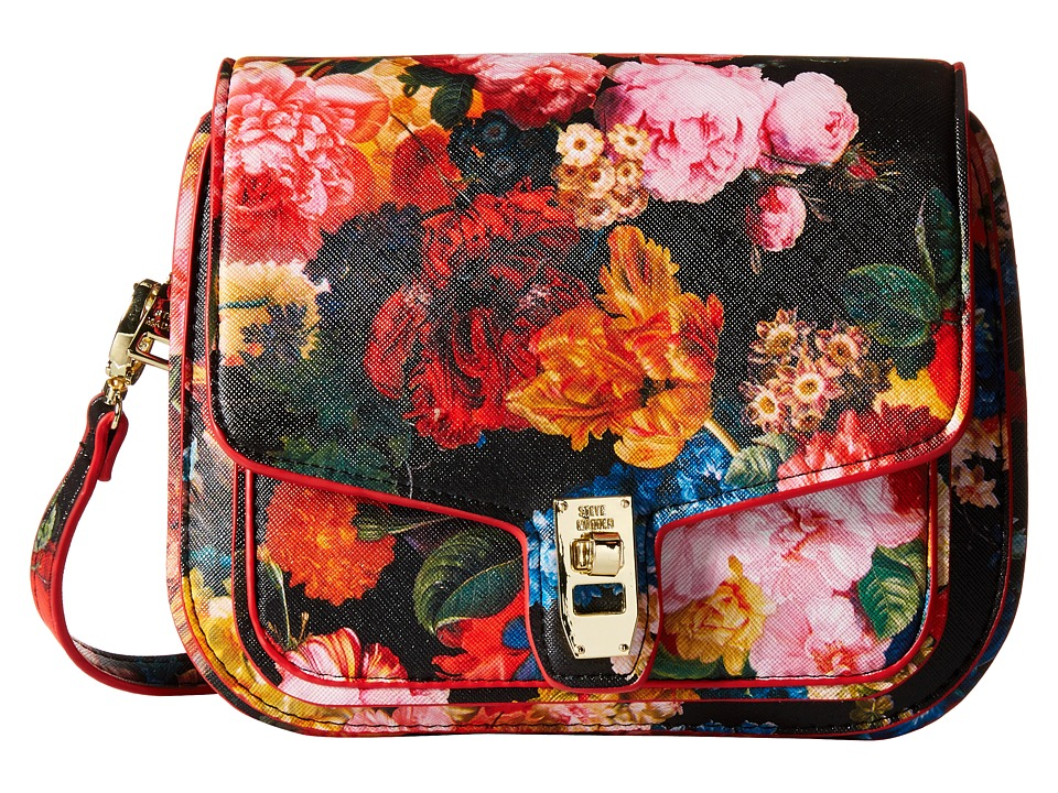 Steve Madden - Btanner Saddle Bag (Red Flower/Red Edge) Cross Body Handbags