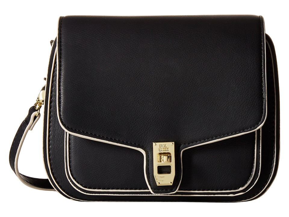 Steve Madden - Btanner Saddle Bag (Black/Cream) Cross Body Handbags