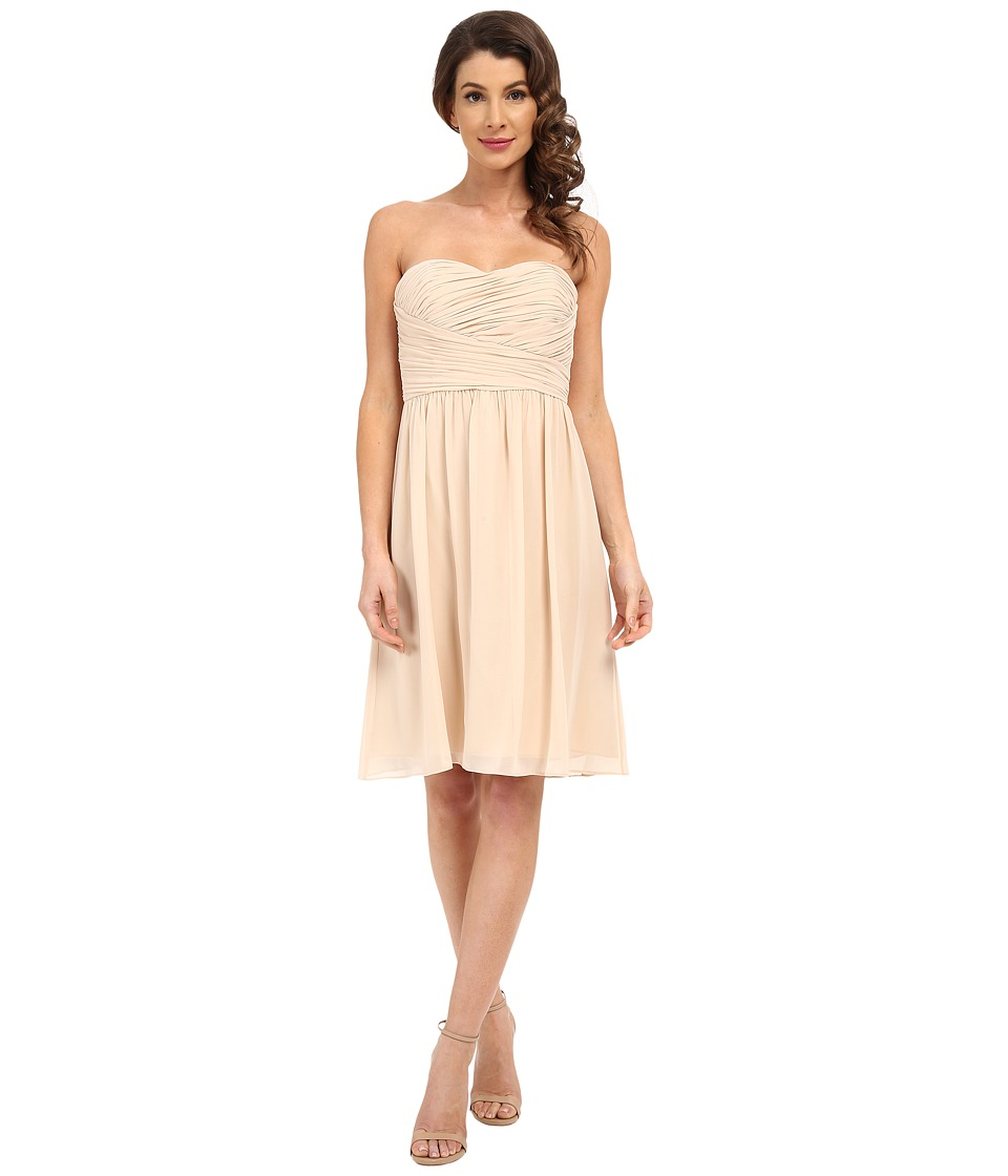 Donna Morgan - Sarah Dress Short Rouched Dress (Champagne) Women's Dress