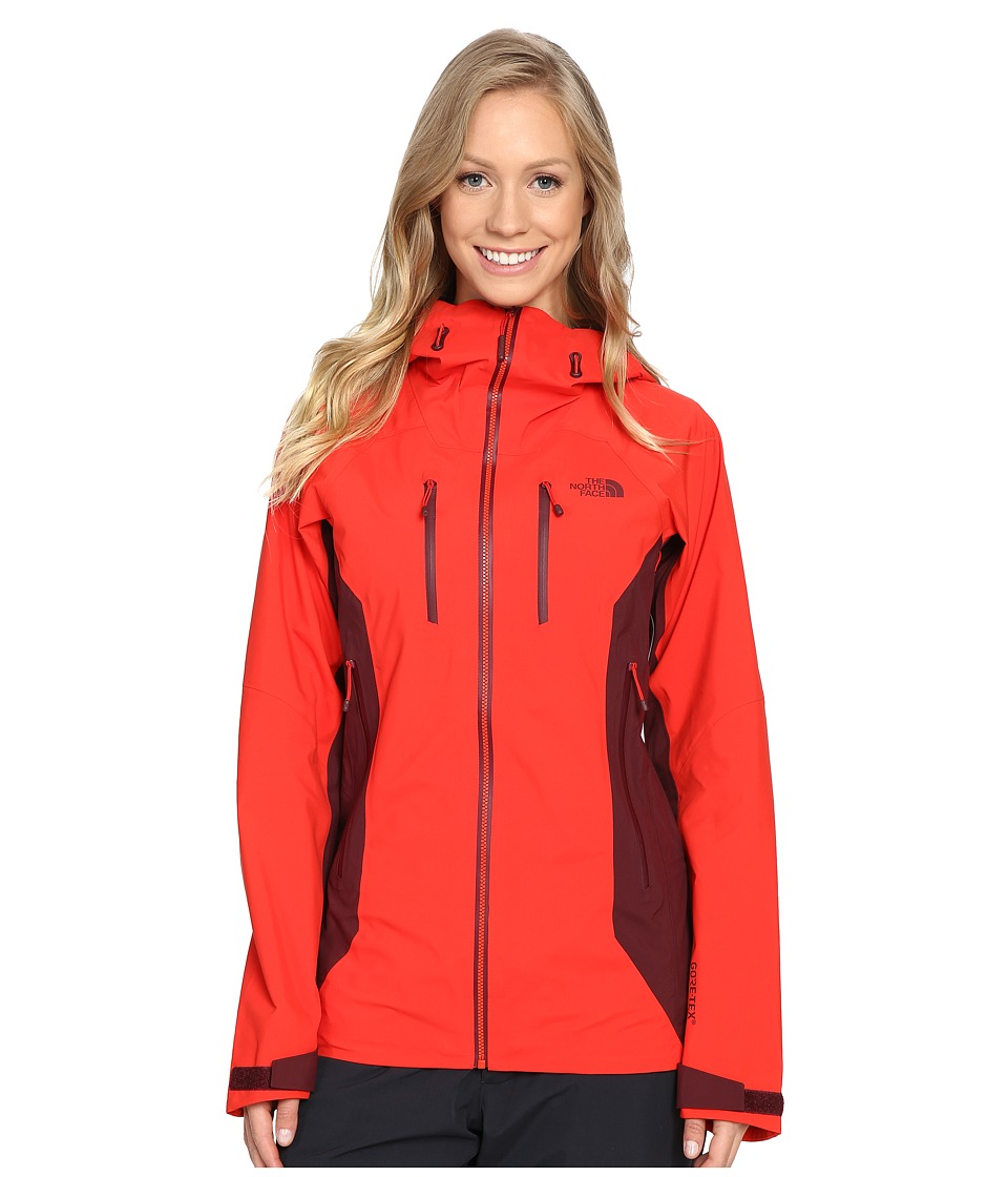 The North Face - Dihedral Shell Jacket (High Risk Red/Deep Garnet Red) Women's Coat