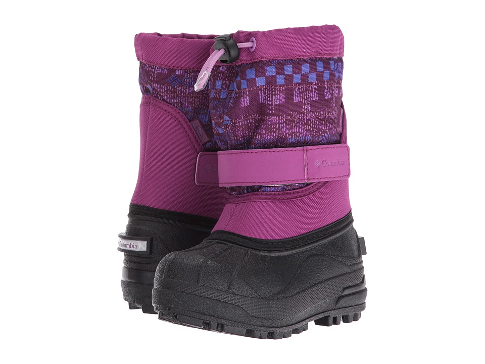 Columbia Kids - Powderbug Plus II Print (Toddler/Little Kid/Big Kid) (Intense Violet/Purple Arrow) Girls Shoes