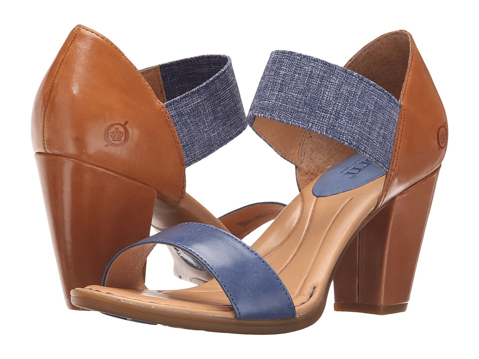 Born Khate (Navy/Brown Full Grain Leather) High Heels