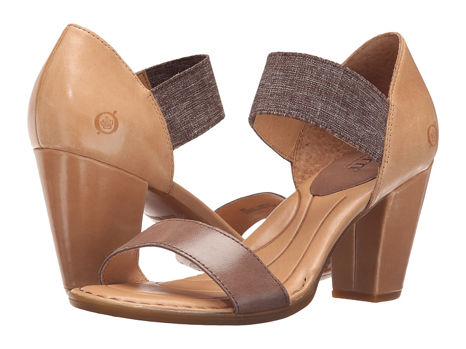 Born - Khate (Dark Brown/Natural Full Grain Leather) High Heels