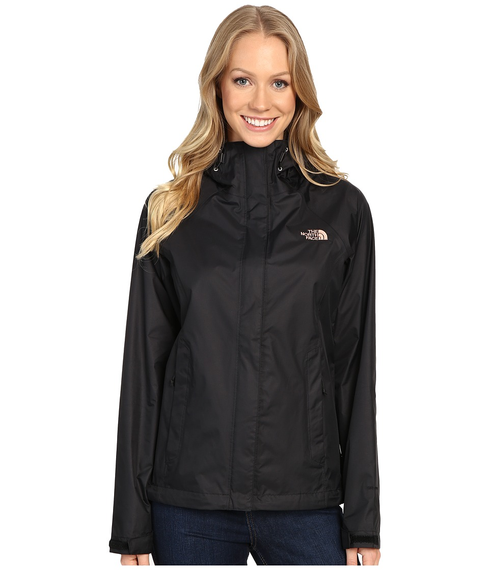 The North Face - Venture Jacket (TNF Black/Rose Dawn) Women's Coat