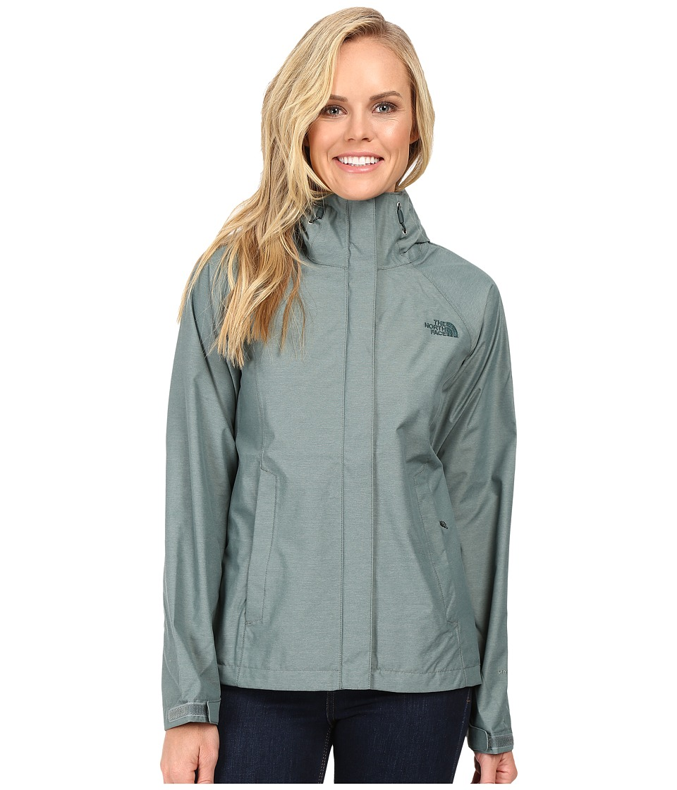 The North Face - Venture Jacket (Balsam Green Heather) Women's Coat
