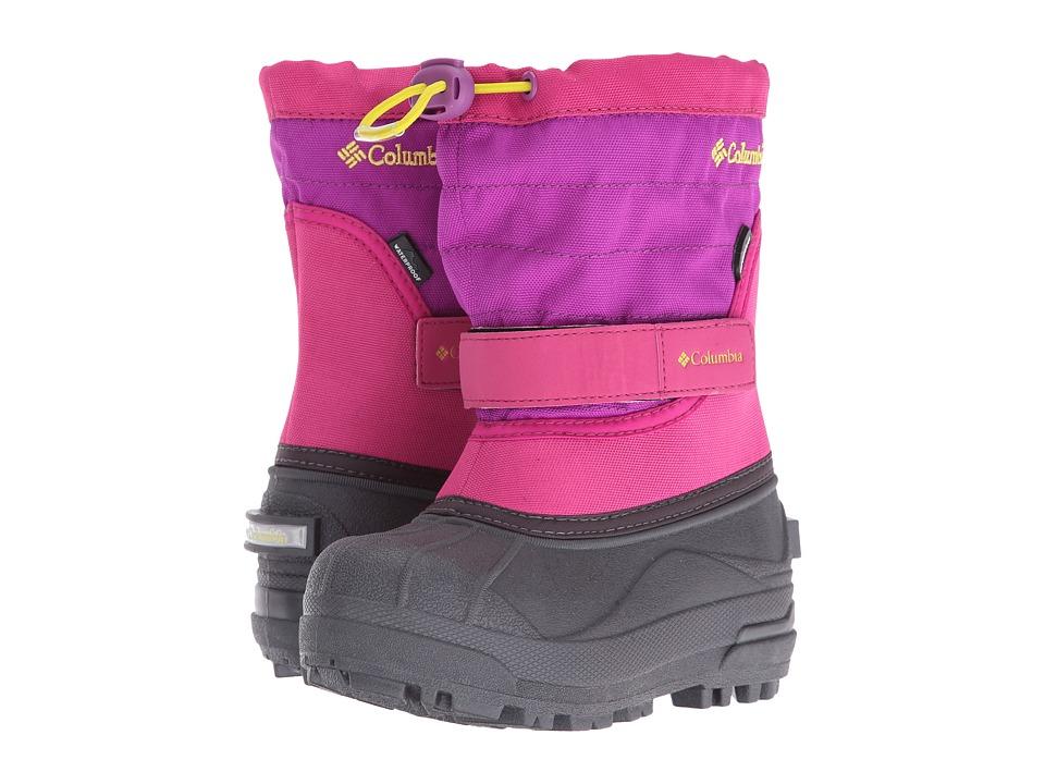 Columbia Kids - Powderbug Plus II (Toddler/Little Kid/Big Kid) (Haute Pink/Zour) Girls Shoes
