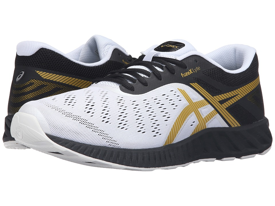 ASICS - FuzeX Lyte (Black/Rich Gold/White) Men's Running Shoes