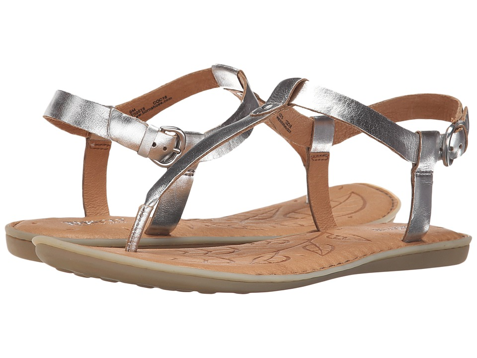 Born - Lo (Argento Metallic Full Grain Leather) Women's Sandals