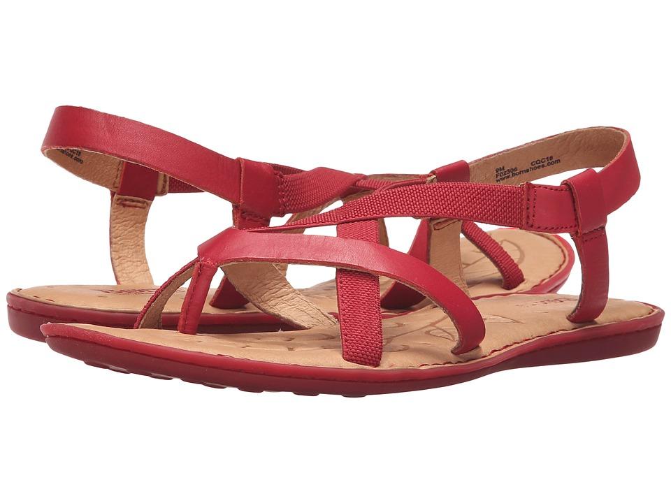 Born - Taj (Red Full Grain Leather) Women's Toe Open Shoes