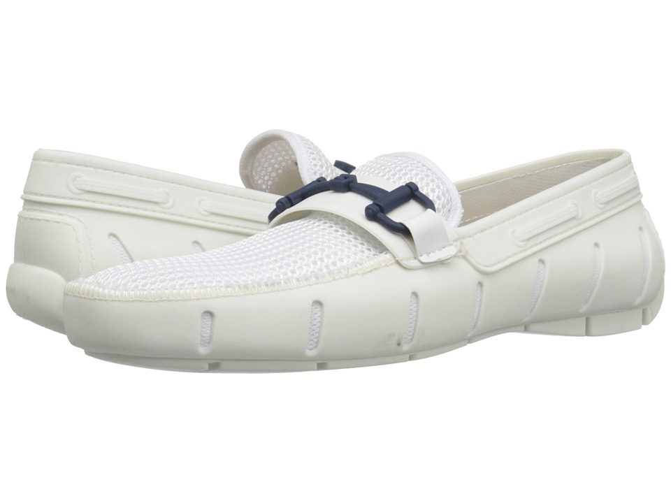 Robert Wayne - Monaco (White/Navy) Men's Shoes