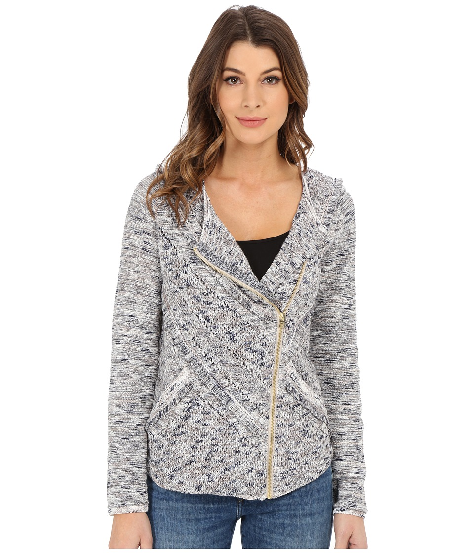 Lucky Brand - Fringe Sweater Jacket (Grey Multi) Women's Coat