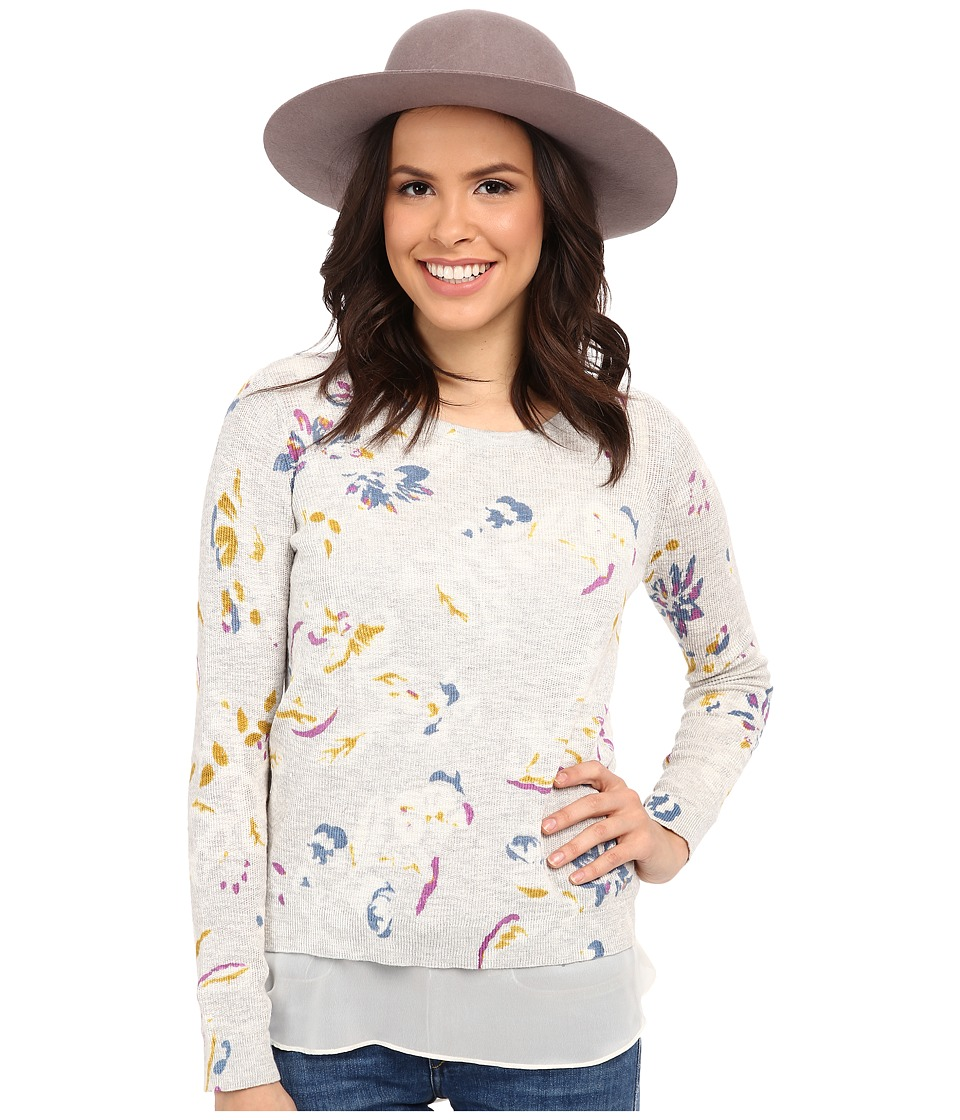 Lucky Brand - Floral Printed Pullover (Multi) Women's Clothing