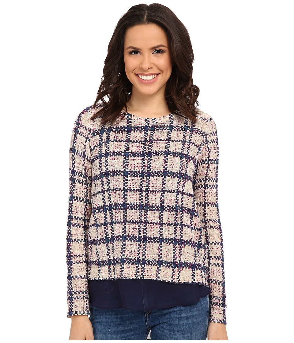 Lucky Brand - Plaid Printed Pullover (Multi) Women's Sweater