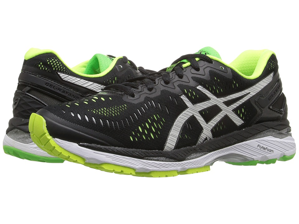 ASICS - Gel-Kayano(r) 23 (Black/Silver/Safety Yellow) Men's Running Shoes