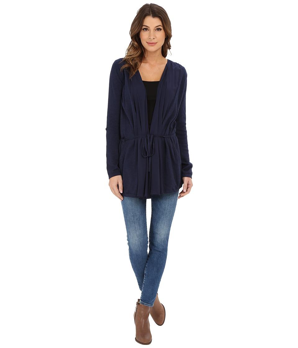 Lucky Brand - Modern Drapey Cardigan (Mooring) Women's Sweater