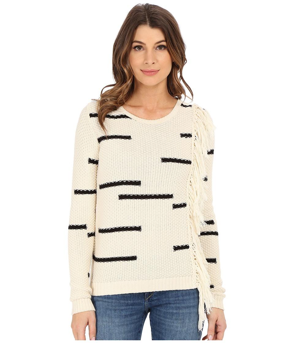 Lucky Brand - Fringe Pullover (Natural Multi) Women's Clothing