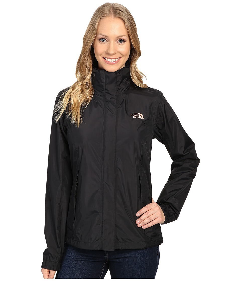 The North Face - Resolve Jacket (TNF Black/Rose Dawn) Women's Coat