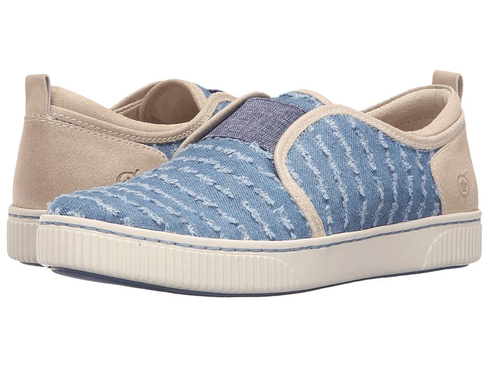 Born - Callisto (Porcellana/Denim Combo) Women's Slip on Shoes