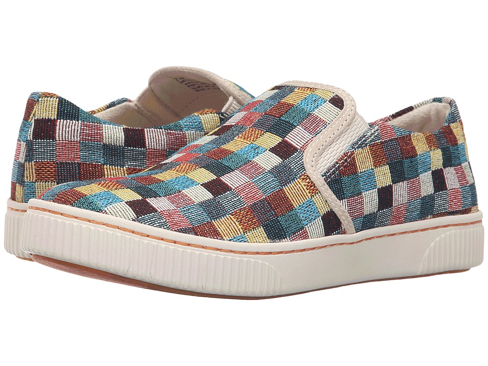 Born - Richie (Checker Multi Combo) Women's Slip on Shoes
