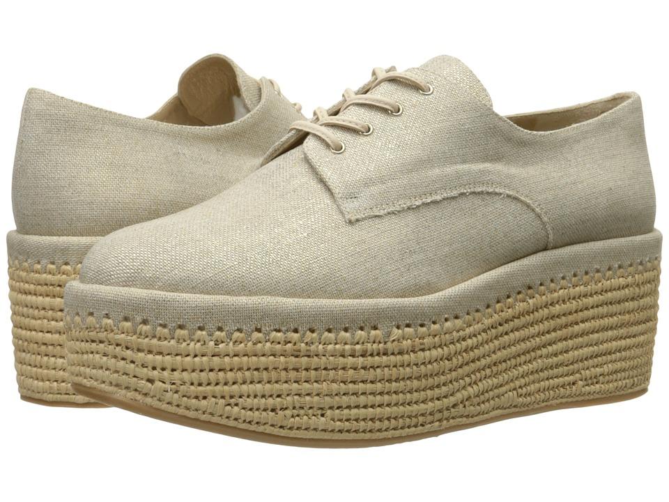 Stuart Weitzman - Kent (Gold Summer Linen) Women's Shoes