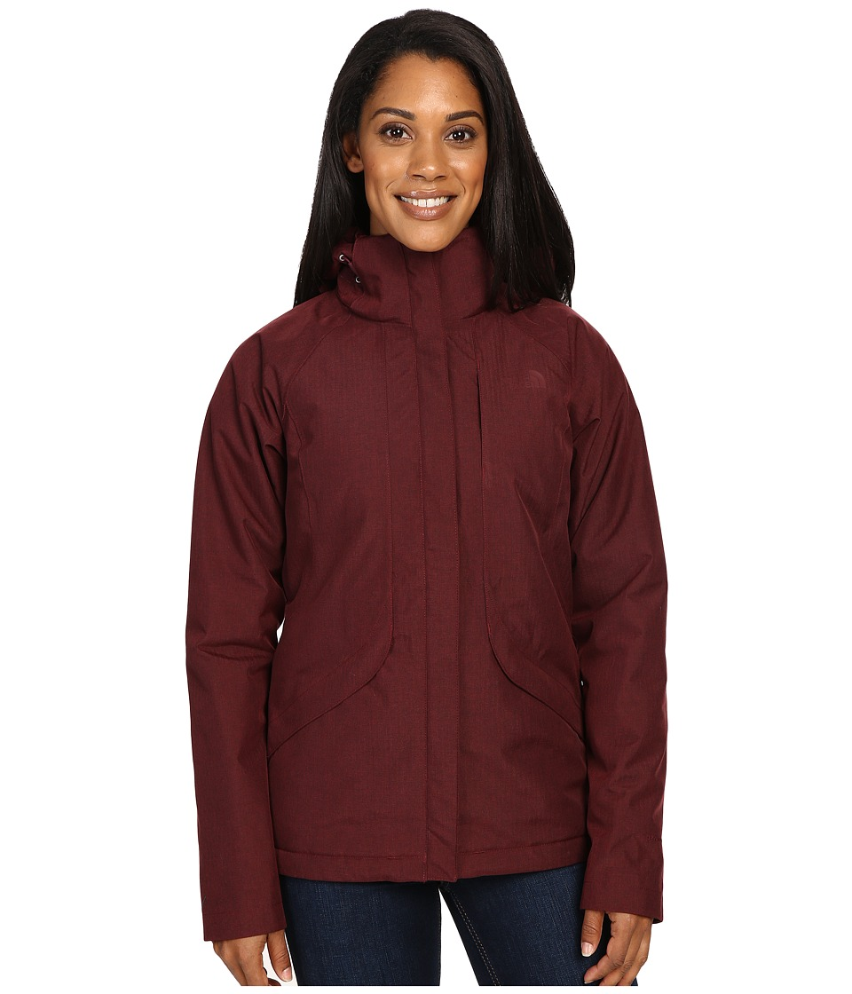 The North Face - Inlux Insulated Jacket (Deep Garnet Red Heather) Women's Jacket