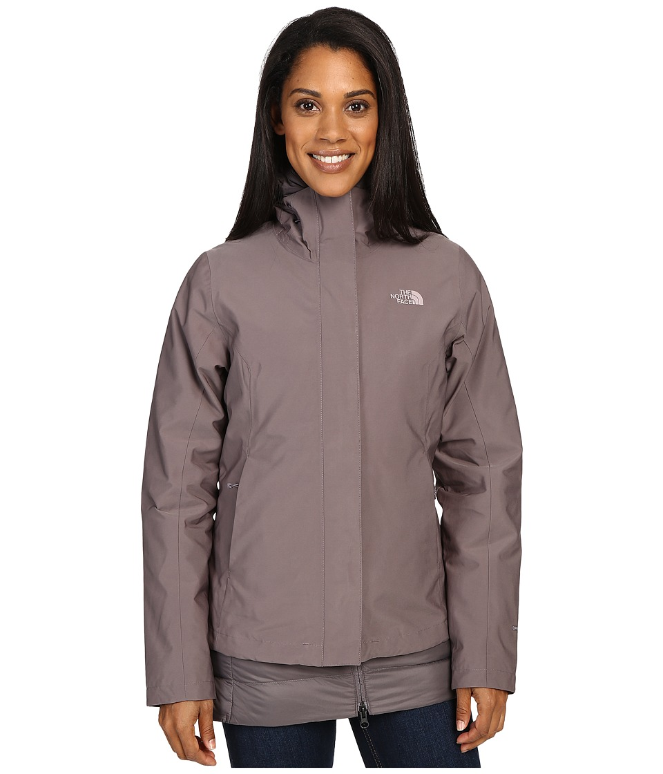 The North Face - Ivy Hill Down Triclimate Jacket (Rabbit Grey) Women's Coat