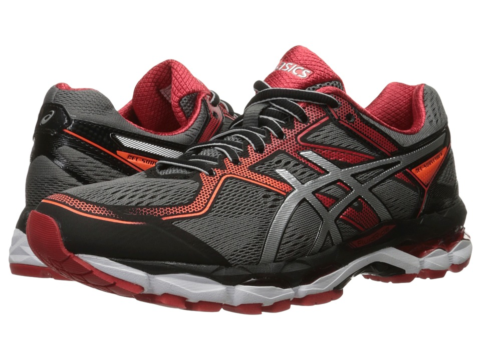 ASICS - Gel-Surveyor 5 (Black/Silver/Vermilion) Men's Running Shoes