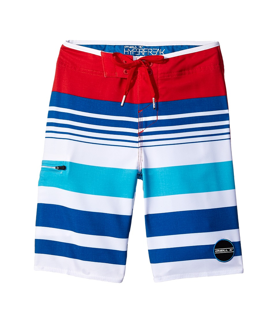O'Neill Kids - Hyperfreak Heist Boardshorts (Big Kids) (Red/White/Blue) Boy's Swimwear