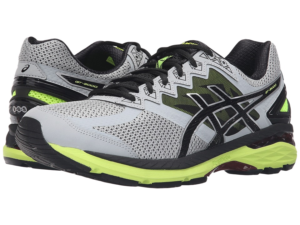 ASICS GT-2000 4 (Mid Grey/Black/Safety Yellow) Men