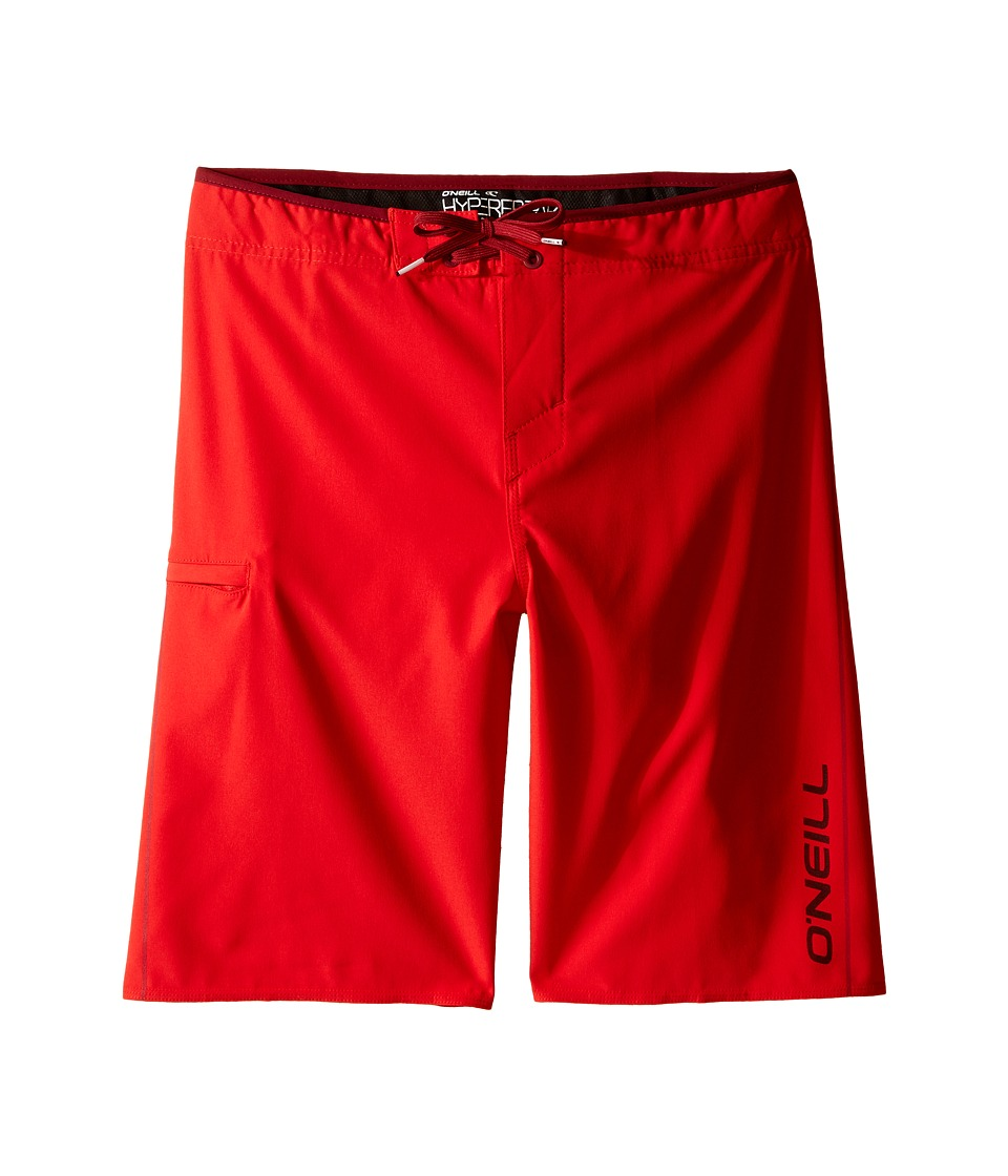 O'Neill Kids - Hyperfreak Solid Boardshorts (Big Kids) (Red) Boy's Swimwear