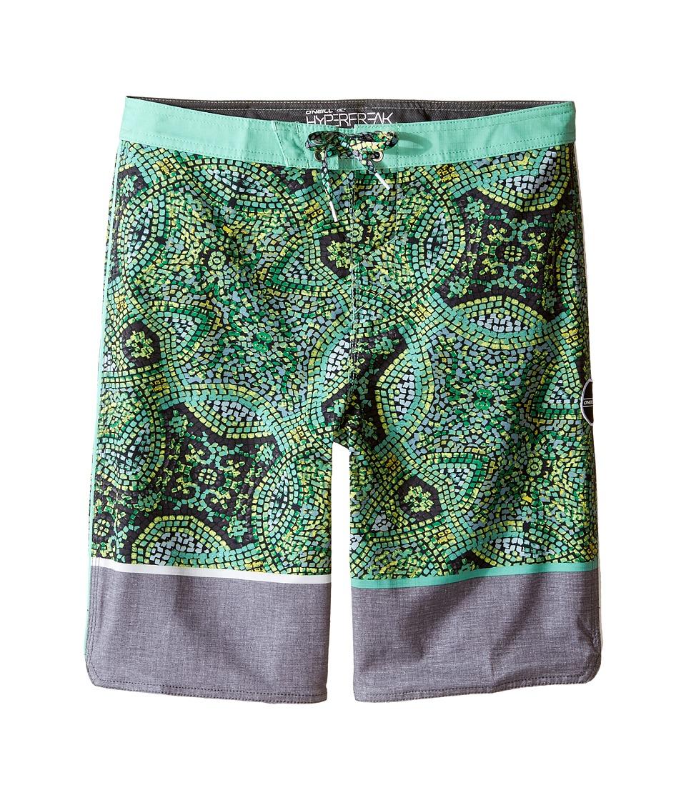 O'Neill Kids - Hyperfreak Canggu Boardshorts (Big Kids) (Green) Boy's Swimwear