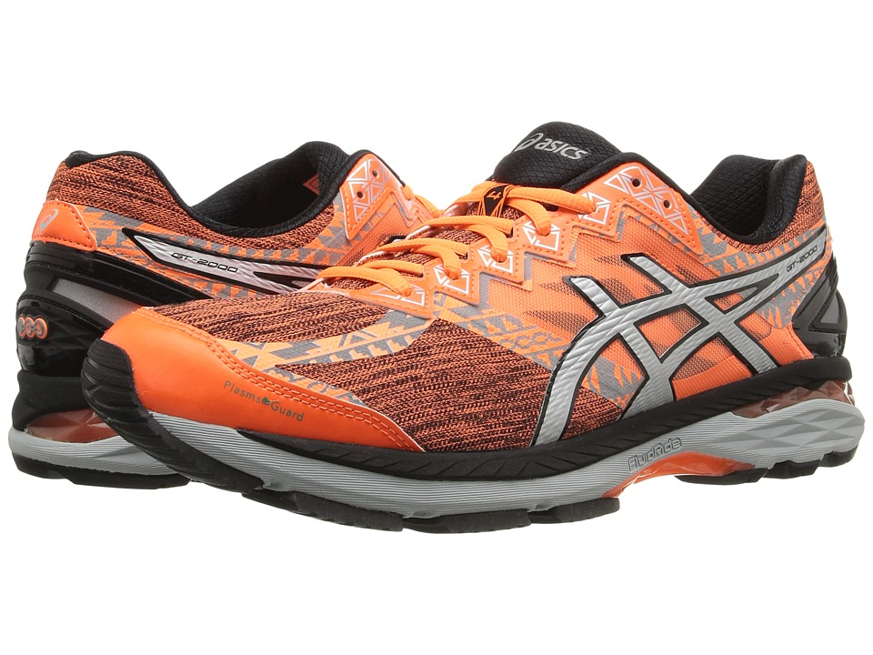 ASICS - GT-2000 4 Lite-Show PG (Hot Orange/Silver/Black) Men's Running Shoes