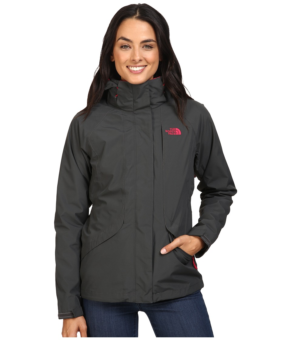 The North Face Boundary Triclimate Jacket (Asphalt Grey/Cerise Pink) Women