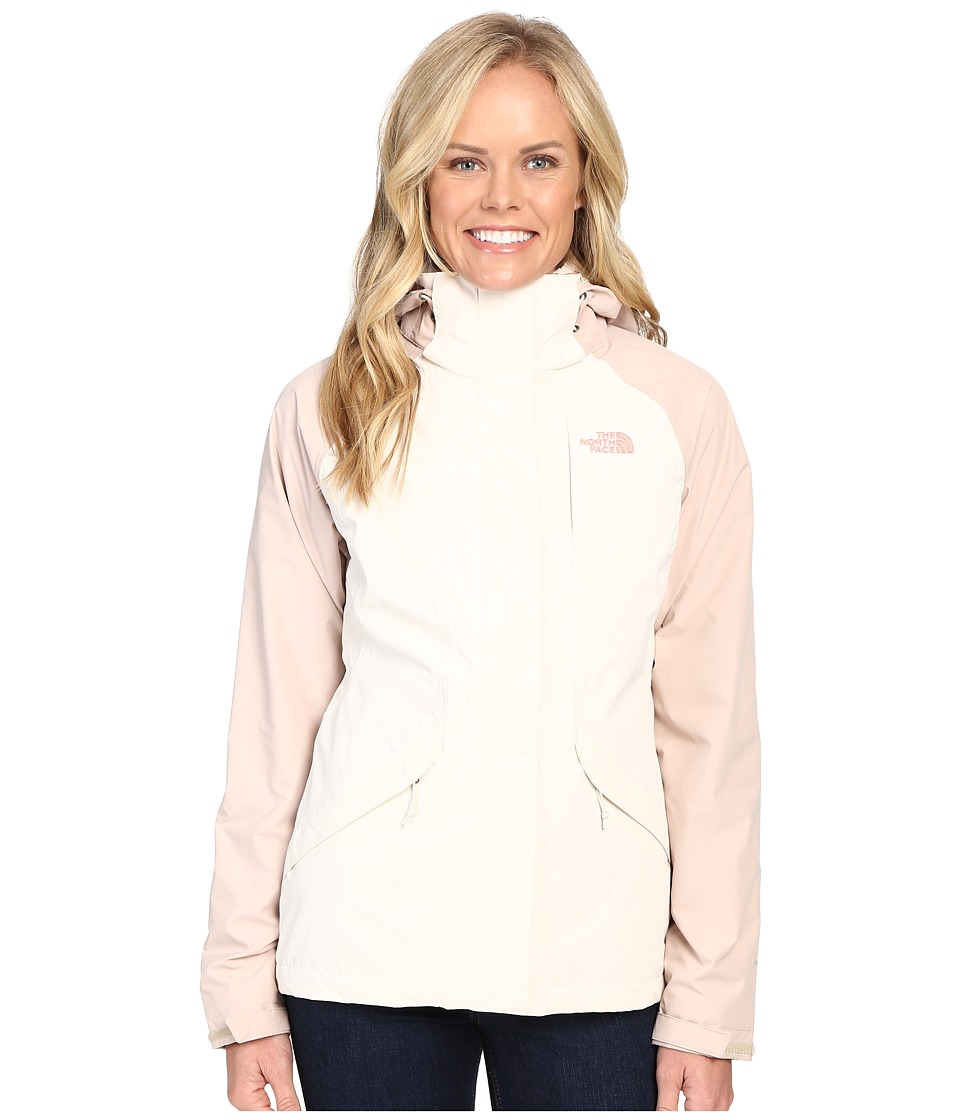 The North Face - Boundary Triclimate Jacket (Vintage White/Doeskin Brown) Women's Coat