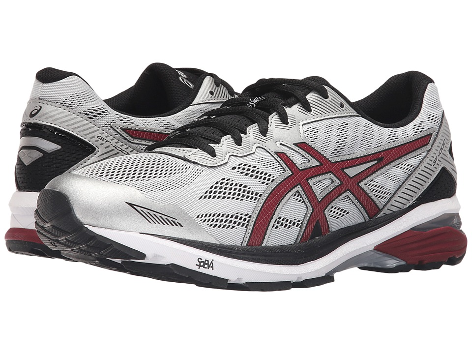 ASICS - GT-1000 5 (Glacier Gray/Pomegrante/Black) Men's Running Shoes