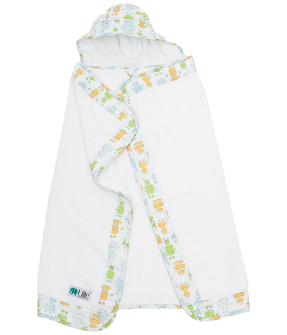 Bebe au Lait - Hooded Towel - Infant (Robots) Accessories Travel